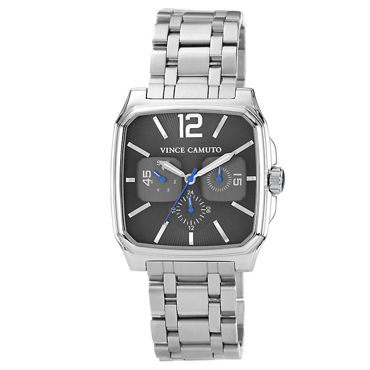 Vince Camuto Men's Square Gunmetal Steel Bracelet Watch - Product number 1152750