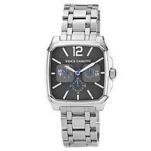 Vince Camuto Men's Square Gunmetal Steel Bracelet Watch - Product number 1152750