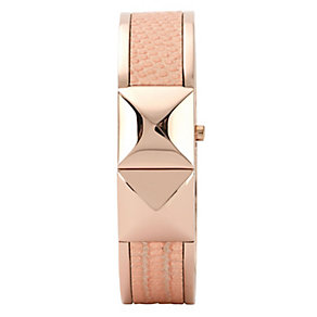 Vince Camuto Ladies' Rose Gold Tone & Leather Bangle Watch - Product number 1152874