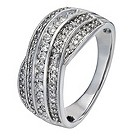 18ct white gold 1/2 carat diamond crossover ring - Product number 1153412