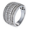 18ct white gold one carat diamond seven row ring - Product number 1153552