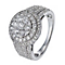 18ct white gold 1.5 carat diamond halo cluster ring - Product number 1153684