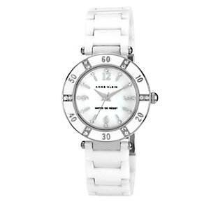 Anne Klein Ladies' Ceramic & Silver Tone Bracelet Watch - Product number 1153897