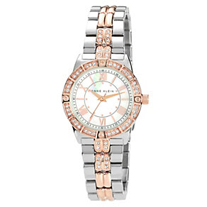 Anne Klein Ladies' Stone Set Two Tone Bracelet Watch - Product number 1153978