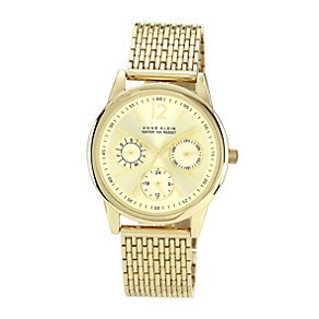 Anne Klein Ladies' Champagne Dial Gold Tone Bracelet Watch - Product number 1153994