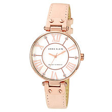 Anne Klein Ladies' Rose Gold Tone Peach Leather Strap Watch - Product number 1154028