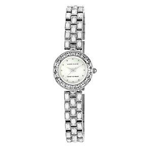 Anne Klein Ladies' Stone Set Silver Tone Bracelet Watch - Product number 1154036