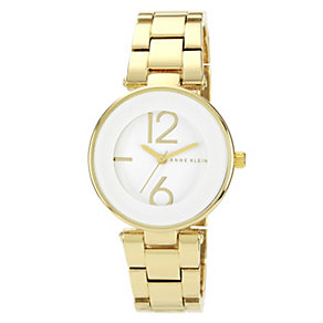 Anne Klein Ladies' White Dial Gold Tone Bracelet Watch - Product number 1154168
