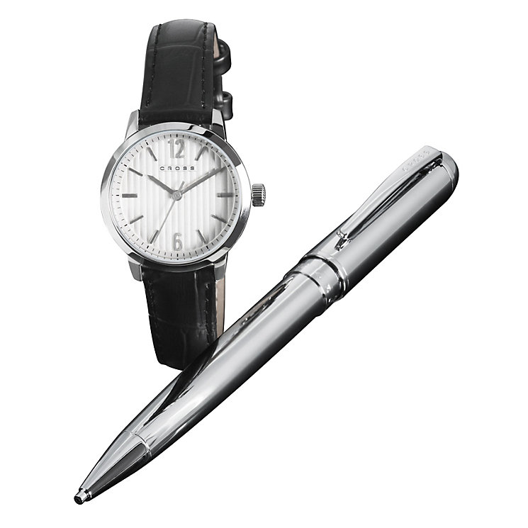 Cross Ladies' Black Strap Watch & Kingston Pencil Set - Product number 1161105