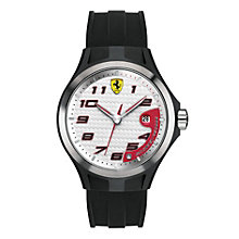 Ferrari Scuderia Men's Black Ion-Plated Silicone Strap Watch - Product number 1172603