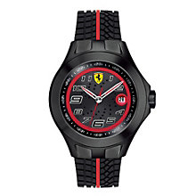 Ferrari Scuderia Men's Black Ion-Plated Tyre Strap Watch - Product number 1174355