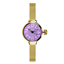 Glam Rock Miami Beach Ladies' Gold Tone Mesh Bracelet Watch - Product number 1210173