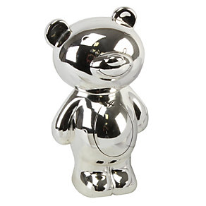 Twinkle silver-plated teddy money bank - Product number 1212001