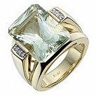 Amanda Wakeley gold-plated diamond & green quartz ring - Product number 1213547