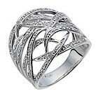 Amanda Wakeley sterling silver 12 point diamond tattoo ring - Product number 1213687