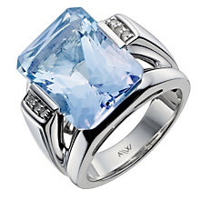 Sterling Silver Diamond & Blue Topaz Ring - Product number 1213954