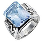 Amanda Wakeley sterling silver diamond & blue topaz ring - Product number 1213954
