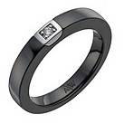 Amanda Wakeley sterling silver & black ceramic diamond ring - Product number 1214144