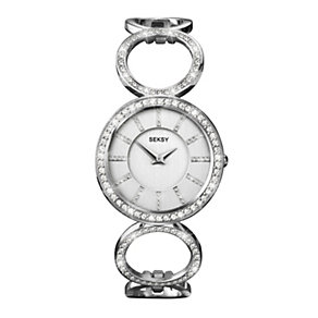 Sekonda Seksy Ladies' Silver Dial Stone Set Bracelet Watch - Product number 1214519