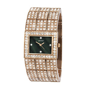 Sekonda Seksy Ladies' Stone Set Rose Gold Plated Watch - Product number 1214527