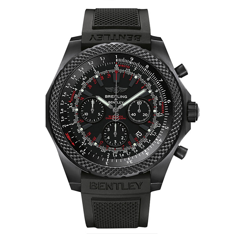 Breitling Bentley Titanium Black Rubber Strap Watch