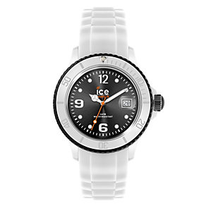 Ice-Watch Men's Black Dial White Silicone Strap Watch - Product number 1220438
