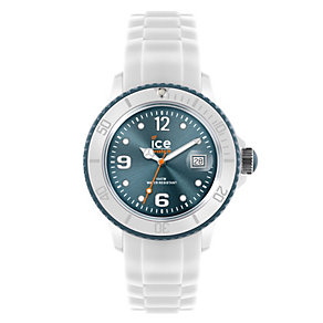 Ice-Watch Men's Blue Dial White Silicone Strap Watch - Product number 1220454