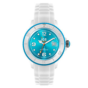 Ice-Watch Ladies' Turquoise Dial White Silicone Strap Watch - Product number 1220497