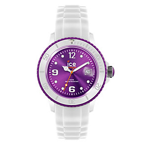 Ice-Watch Ladies' Purple Dial White Silicone Strap Watch - Product number 1220519
