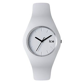 Ice-Watch Ladies' White & Black Silicone Strap Watch - Product number 1220527