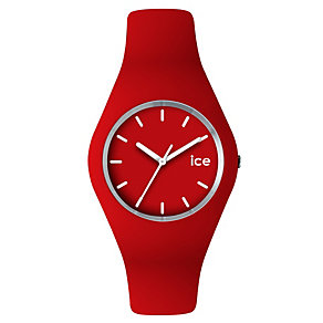 Ice-Watch Men's Red & White Silicone Strap Watch - Product number 1220551