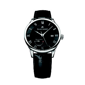 Maurice Lacroix Masterpiece men's black leather strap watch - Product number 1220764