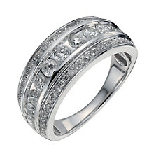 18ct white gold one carat diamond eternity ring - Product number 1221590