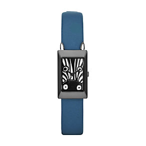 Marc by Marc Jacobs Critters ladies' zebra teal strap watch - Product number 1223151