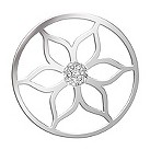 Lucet Mundi silver tone lotus crystal coin - large - Product number 1225391