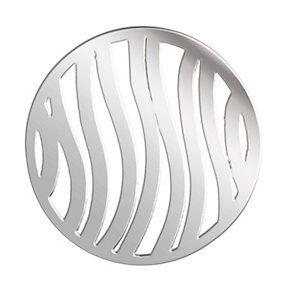 Lucet Mundi silver tone wave coin - large - Product number 1225413