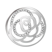 Lucet Mundi silver tone rose crystal coin - large - Product number 1225448