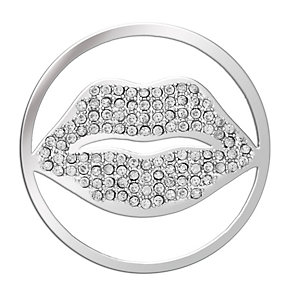 Lucet Mundi silver tone kiss me crystal coin - small - Product number 1225553