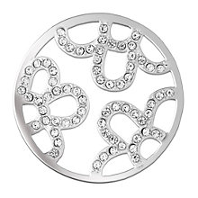 Lucet Mundi silver tone flora coin - small - Product number 1225561