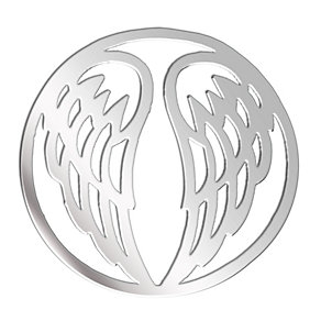 Lucet Mundi silver tone wings coin - small - Product number 1225588