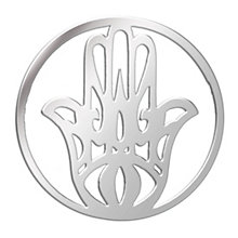 Lucet Mundi silver tone hamsa hand coin - small - Product number 1225618