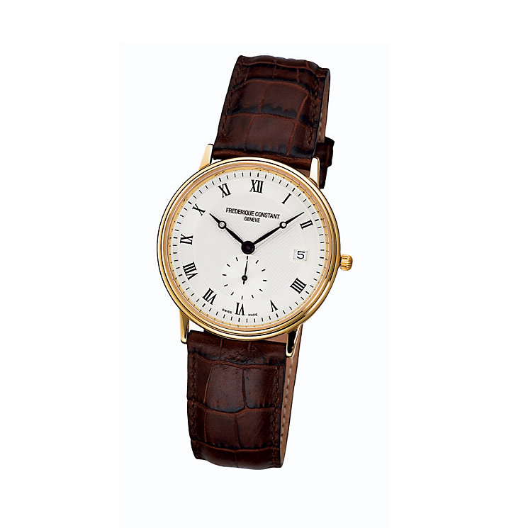 Frederique Constant men's gold-plated strap  watch - Product number 1229508
