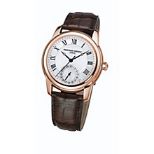 Frederique Constant men's rose gold-plated brown strap watch - Product number 1229532