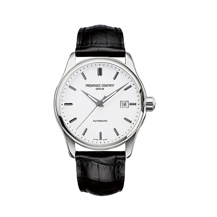 Frederique Constant men's stainless steel black strap watch - Product number 1229583