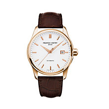 Frederique Constant men's rose gold-plated brown strap watch - Product number 1229702