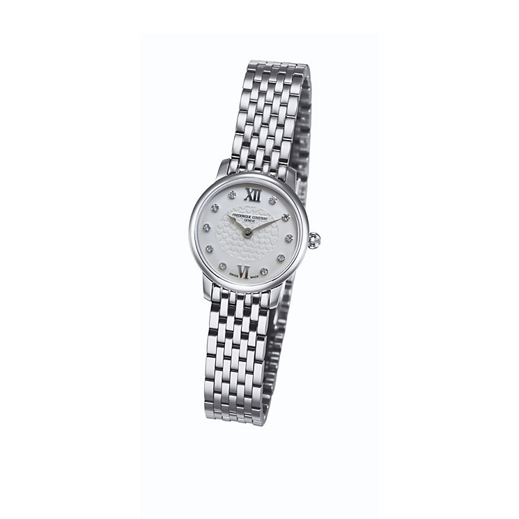 Frederique Constant ladies' diamond steel bracelet watch - Product number 1230034