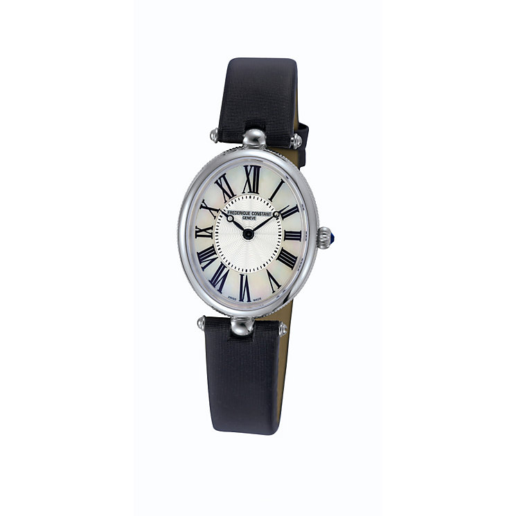 Frederique Constant ladies' steel black strap watch - Product number 1230107
