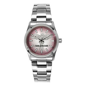 Zadig & Voltaire Ladies' Pink Angel Crystal Bracelet Watch - Product number 1232045