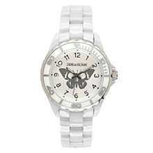 Zadig & Voltaire Ladies' White Ceramic Butterfly Watch - Product number 1232134
