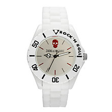 Zadig & Voltaire Ladies' White Plastic Skull Bracelet Watch - Product number 1232142